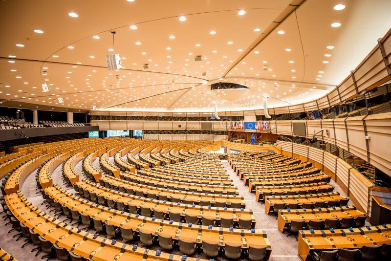 Parlamentu Europejskiego wnętrze obrazy stock