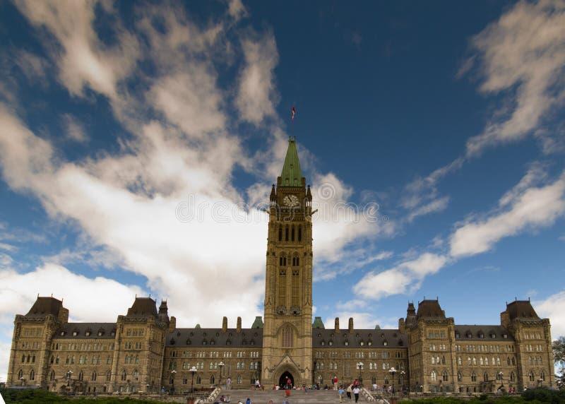Parlamentu wzgórze Ottawa zdjęcia stock
