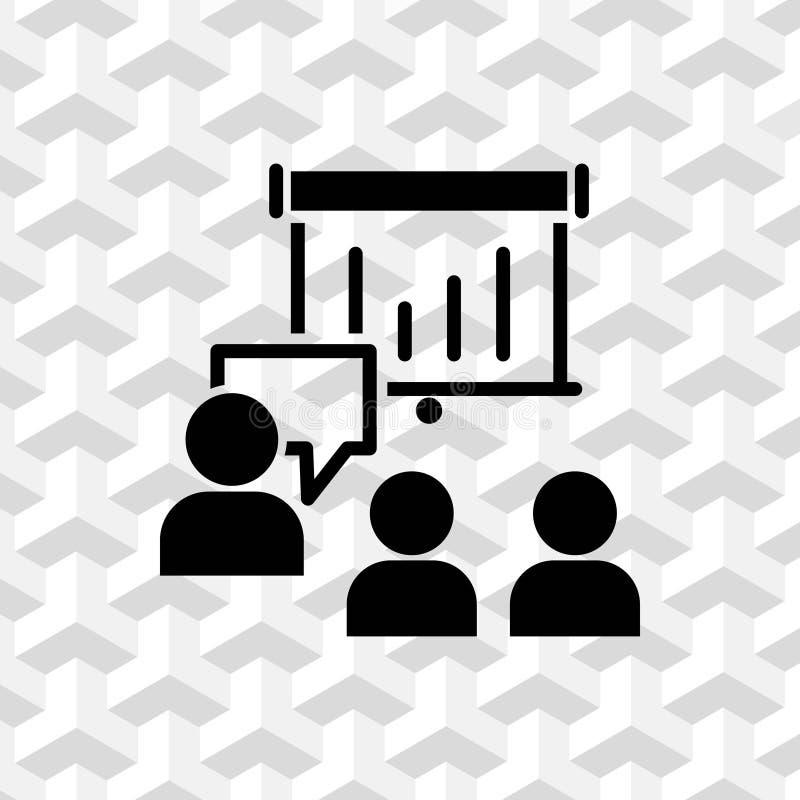 Parlant des personnes, l'illustration de vecteur d'actions d'icône de causerie illustration stock