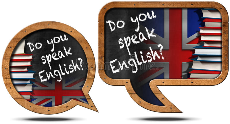 Parlate inglese - fumetti illustrazione vettoriale