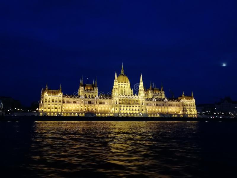 Parlement in Budapest stockfotos