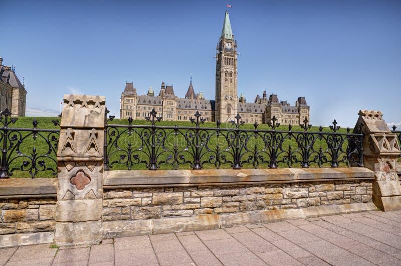 Parlement d'Ottawa (Ontario), Canada Jour ensoleillé d'été photo stock