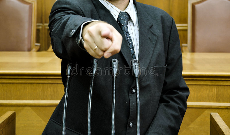 Parlementaire toespraak stock foto's