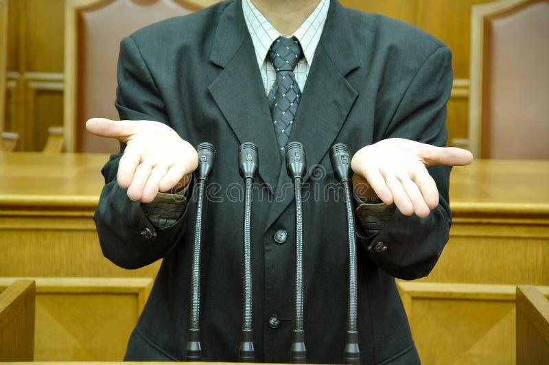 Parlementaire toespraak stock fotografie