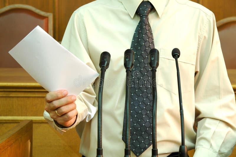 Parlementaire toespraak royalty-vrije stock afbeelding