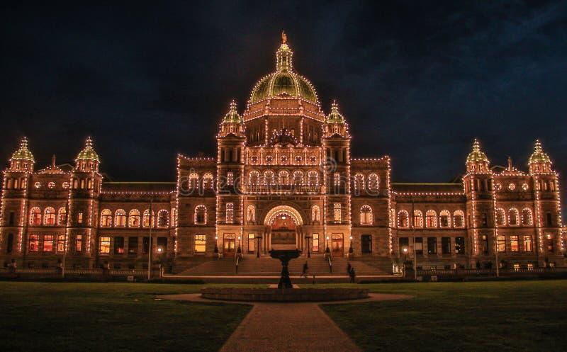 Parlementsgebouw in stad van Victoria in het Eiland van Vancouver, Canada stock fotografie