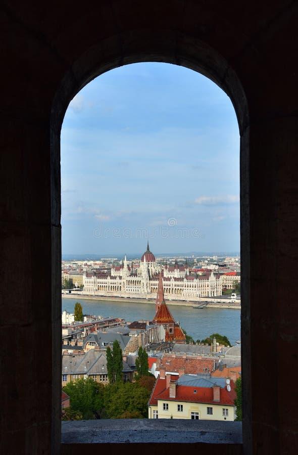 Parlementsgebouw van Boedapest stock afbeelding
