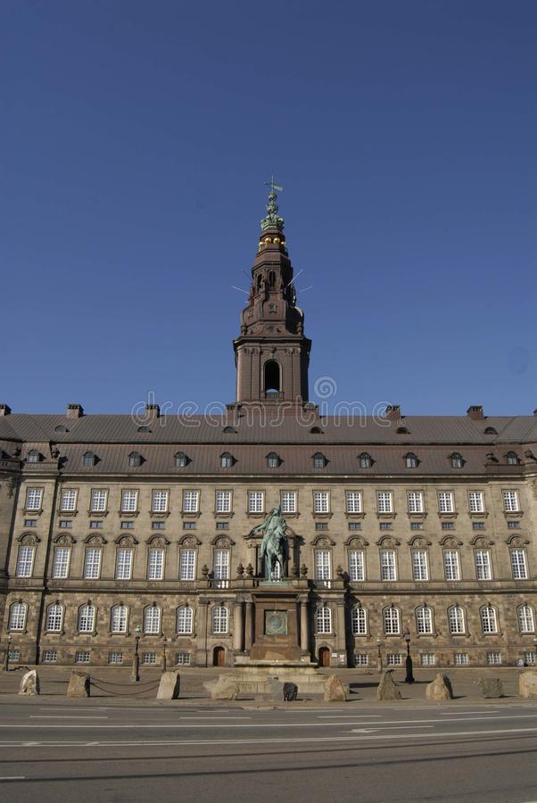 PARLEMENTSGEBOUW VAN CHRISTIANSBORG PALACE_DANISH royalty-vrije stock fotografie