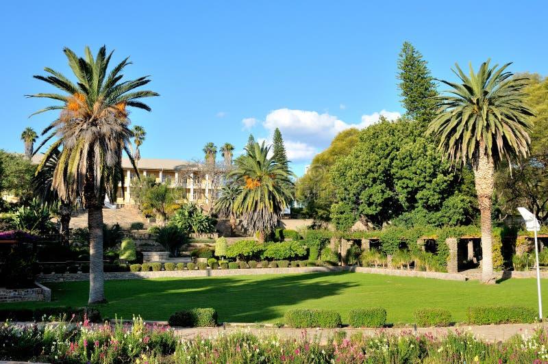 Parlementsgebouw, Windhoek, Namibië stock foto