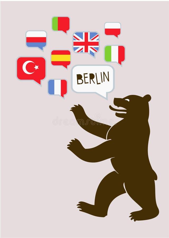 Parler de Berlin illustration de vecteur