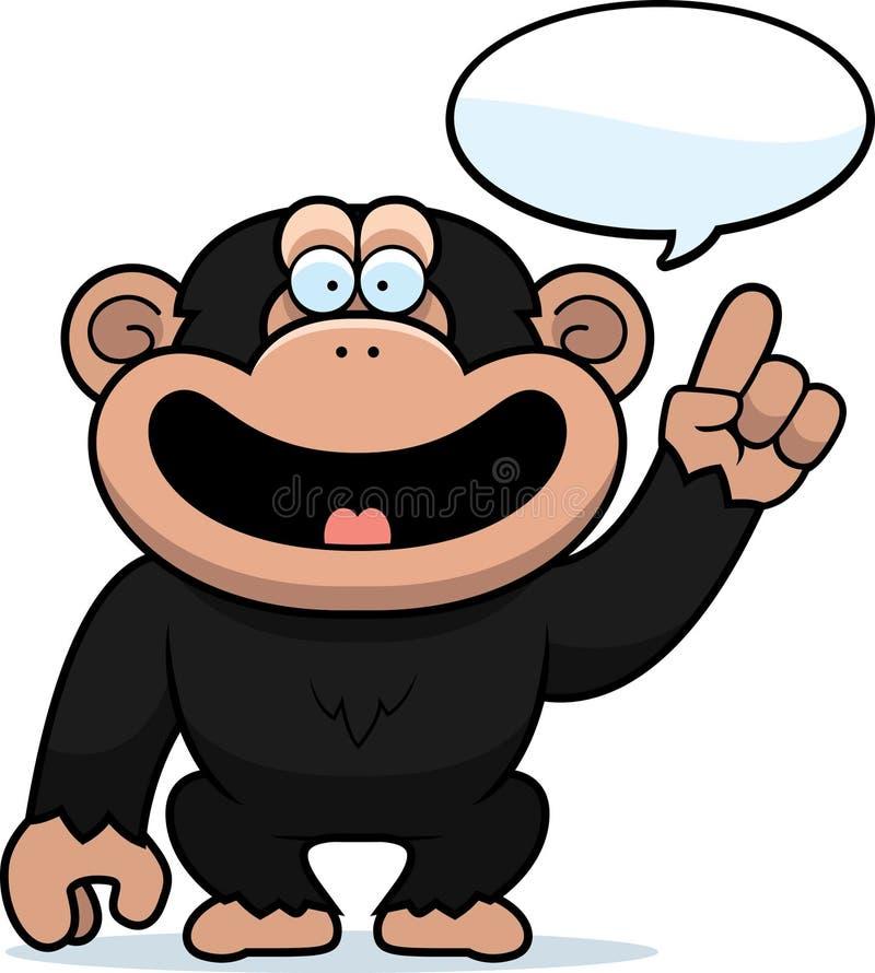 Parler de chimpanzé de bande dessinée illustration stock