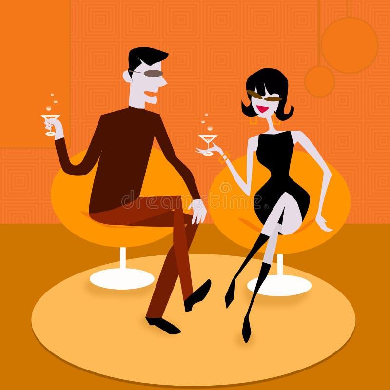 Parler de couples illustration de vecteur