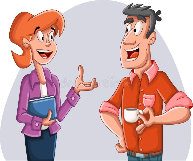 Parler de couples de bande dessinée Gens d'affaires illustration libre de droits