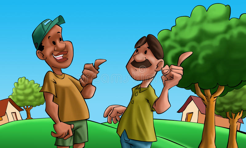 Parler de deux amis illustration stock