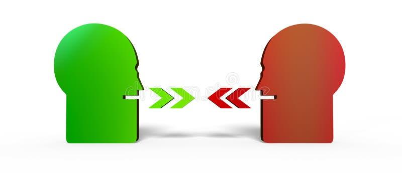 Parler de deux personnes illustration libre de droits