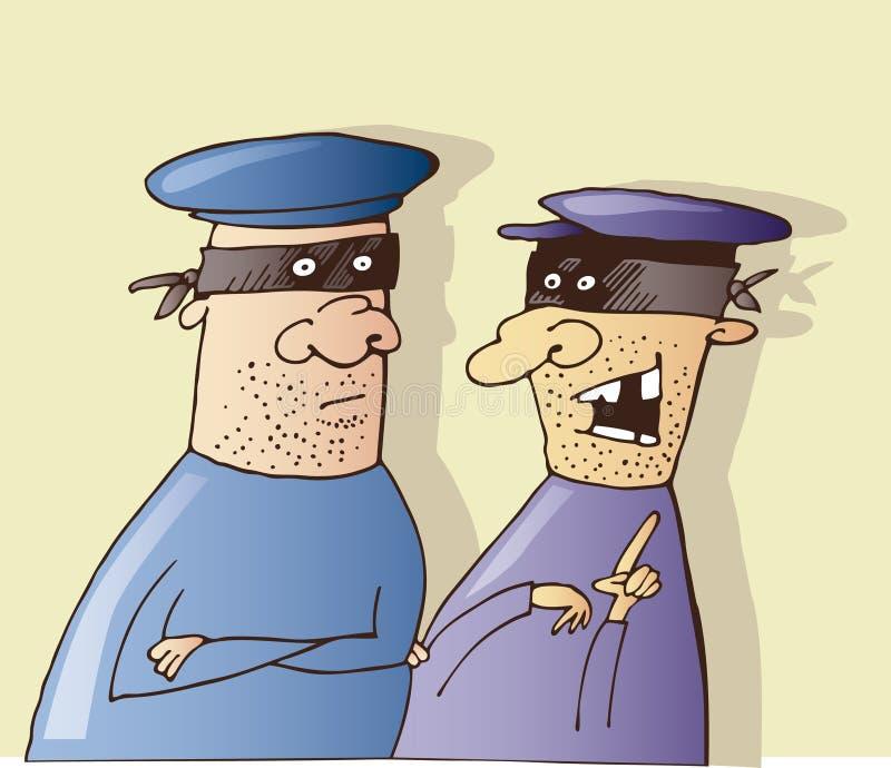 Parler de deux voleurs illustration de vecteur