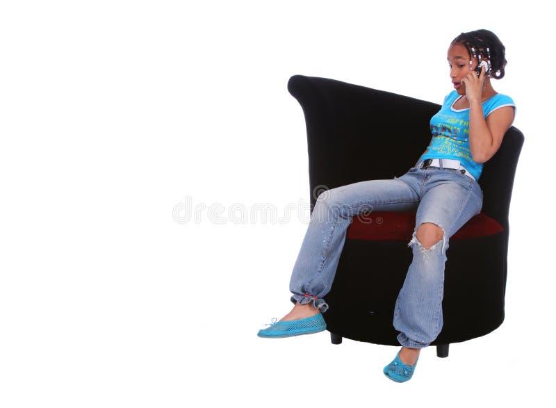 Download Parler De Fille D'Afro-américain Photo stock - Image du causerie, africain: 2127284