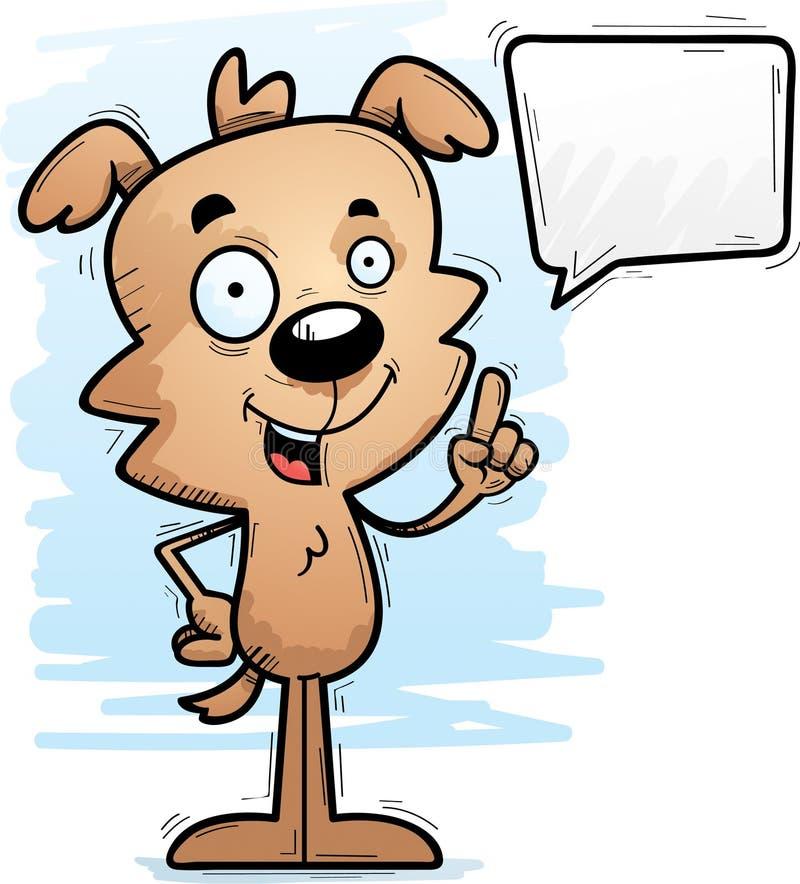 Parler masculin de chien de bande dessinée illustration stock