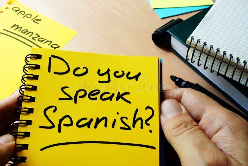 Parlez-vous espagnol ? photos stock