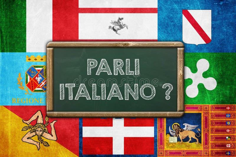 Parli Italiano stock abbildung