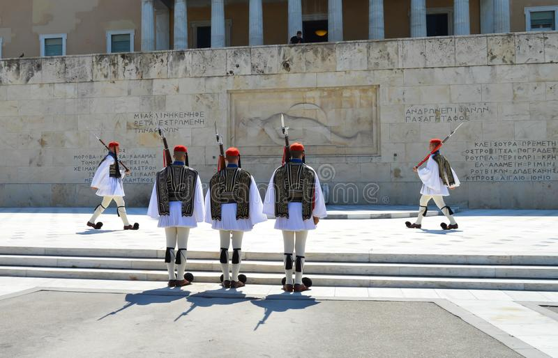 Parliament in Athens, Greece on June 23, 2017. ATHENS, GREECE - JUNE 23: Parliament in Athens, Greece on June 23, 2017 stock photos