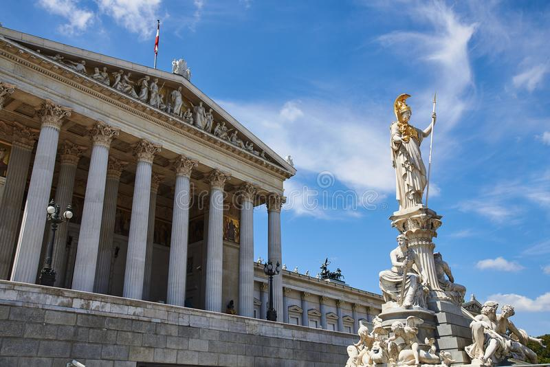 Parliament of Austria; Vienna royalty free stock photography