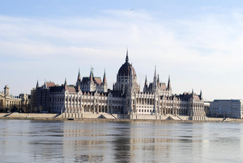 The Parliament in Budapest stock photography