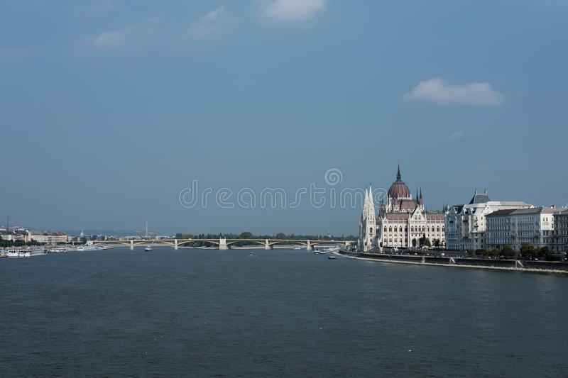 parliament in Budapest and the Danube royalty free stock images