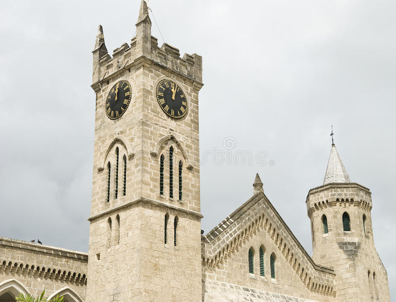 Parliament building, Bridgetown, Barbados stock photo