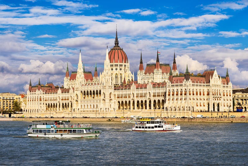 Parliament building in Budapest, Hungary royalty free stock photos