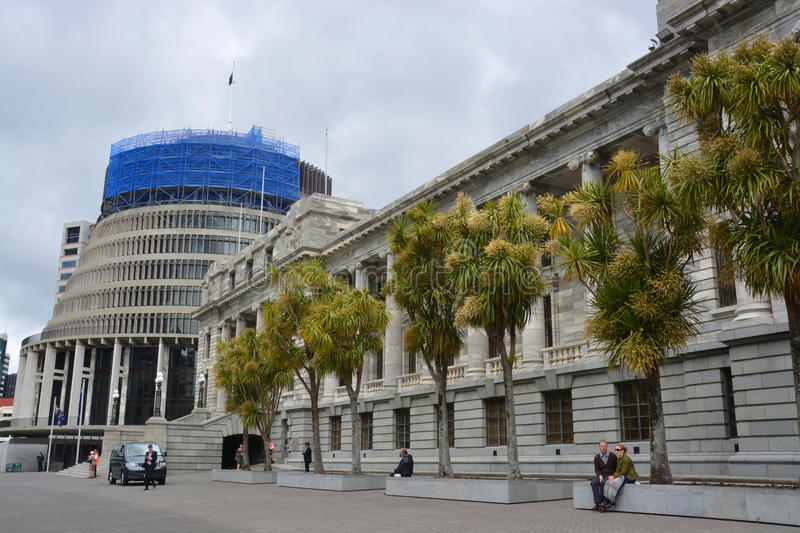 Download Parliament Buildings & Beehive, Wellington New Zealand. Editorial Photography - Image: 35555407
