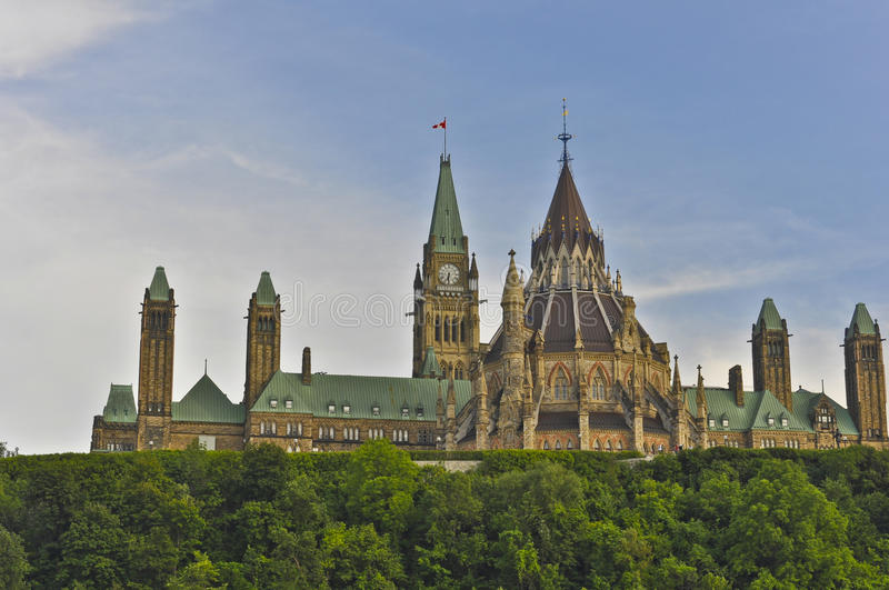 Parliament Buildings and Library, Ottawa, Canada stock images