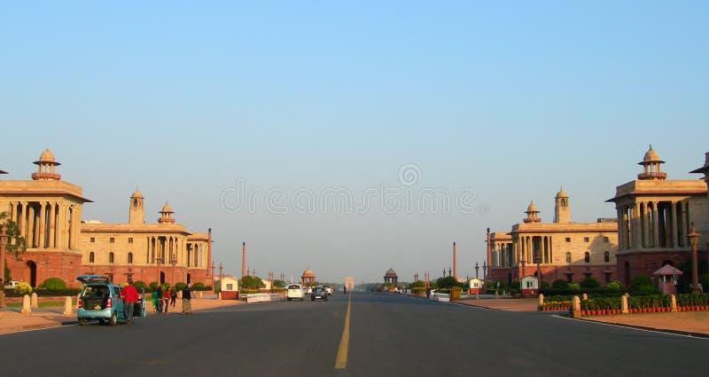 Parliament buildings in New Delhi, India stock photos