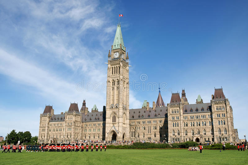 Parliament of Canada royalty free stock photos