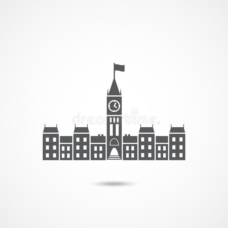 Parliament Canada Icon. On white background royalty free illustration