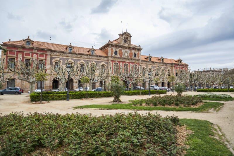 Parliament of Catalonia, building, park,parc de la ciutadella, B stock photography