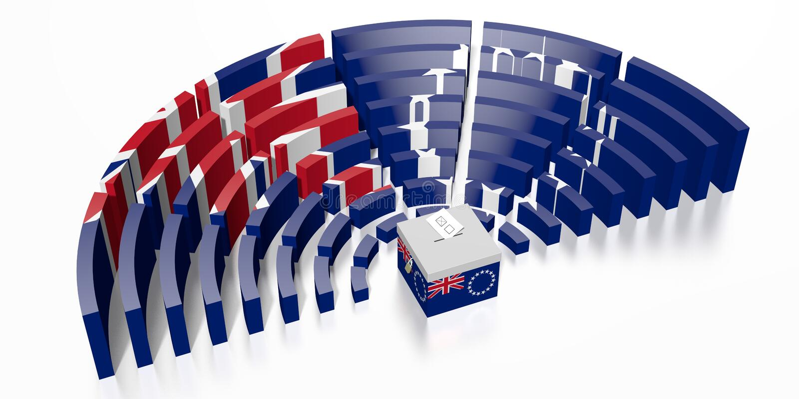 Parliament election in Cook Islands - 3D rendering vector illustration