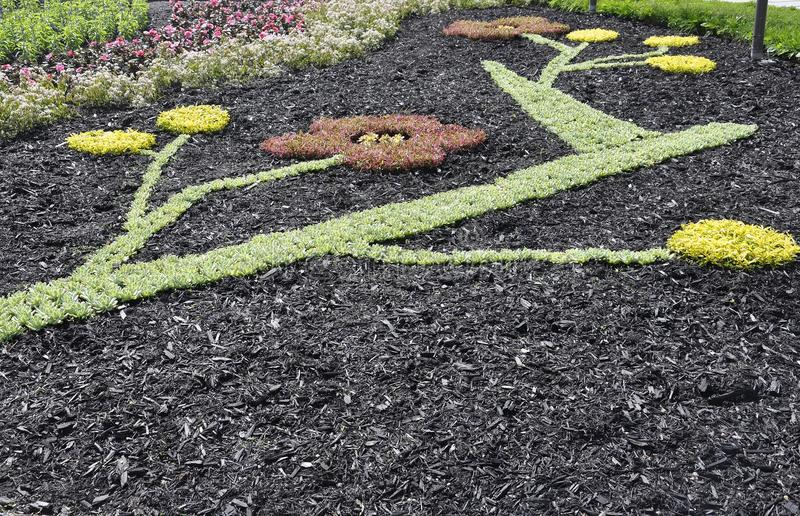 Parliament Garden decoration from Quebec City in Canada stock image