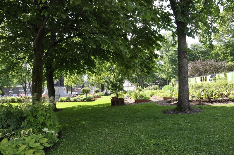 Parliament Garden from Quebec City in Canada royalty free stock photography