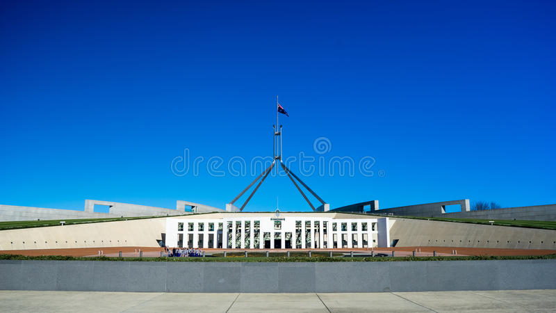 The Parliament House of Australia royalty free stock image