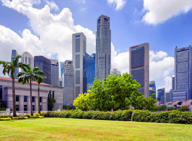 Parliament house building at Marina Bay in Singapore royalty free stock photography