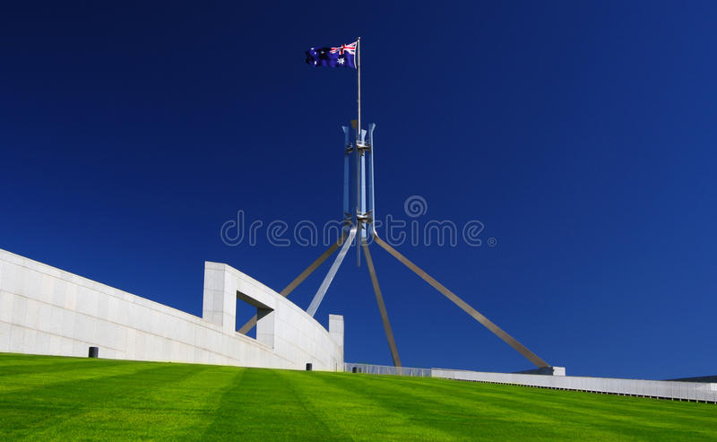 Parliament House in Canberra, Australia royalty free stock photography