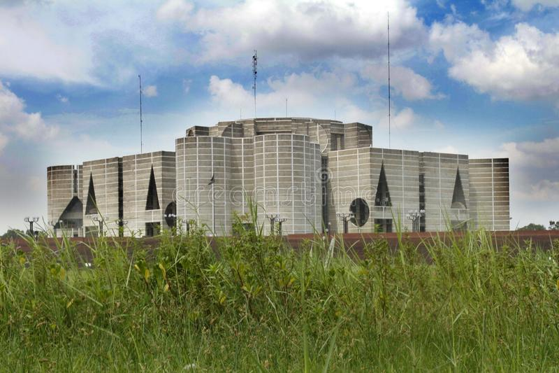 Parliament House in Dhaka; Bangladesh. stock photography