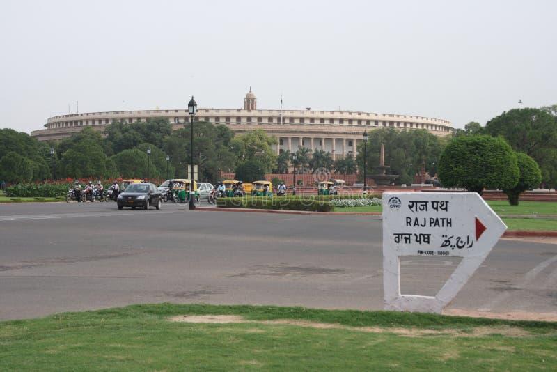 Parliament Building In New Delhi, India Stock Photo ...