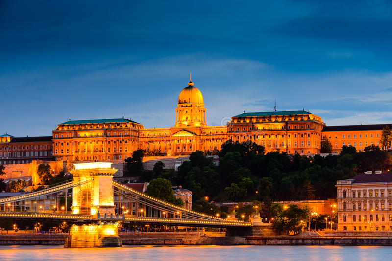Royal Palace of Hungary. View of Royal Palace in Budapest, Hungarian royalty free stock image