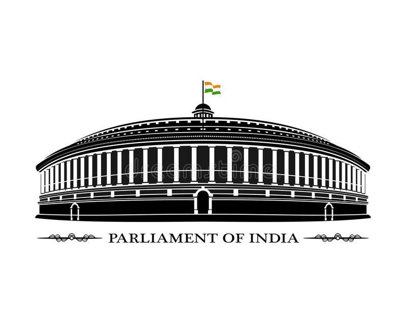 Parliament of India royalty free stock image