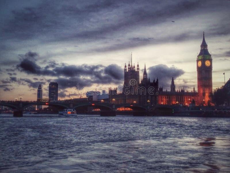 Parliament At Night royalty free stock photos