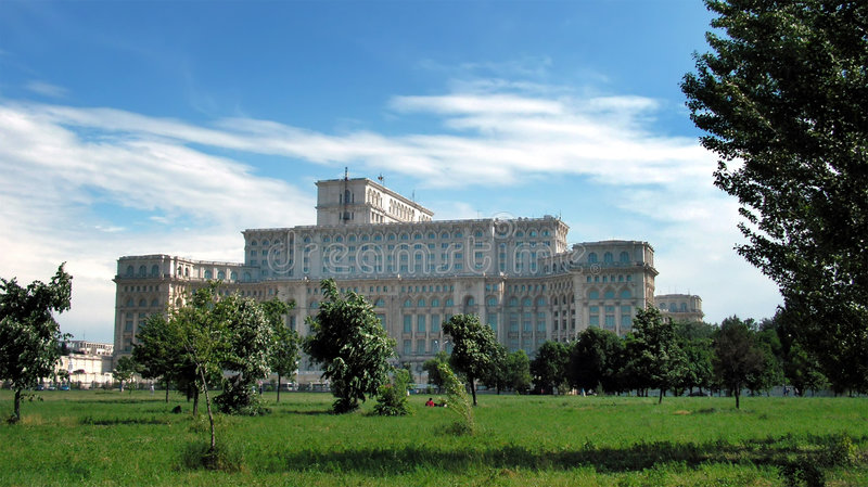 Parliament Palace in Bucharest stock photo