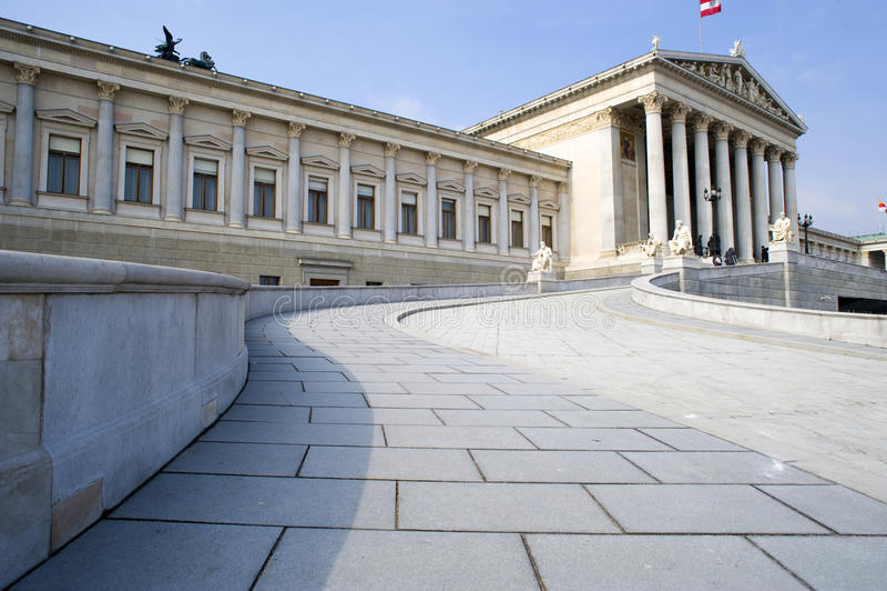 Parliament in Vienna/Austria royalty free stock photos