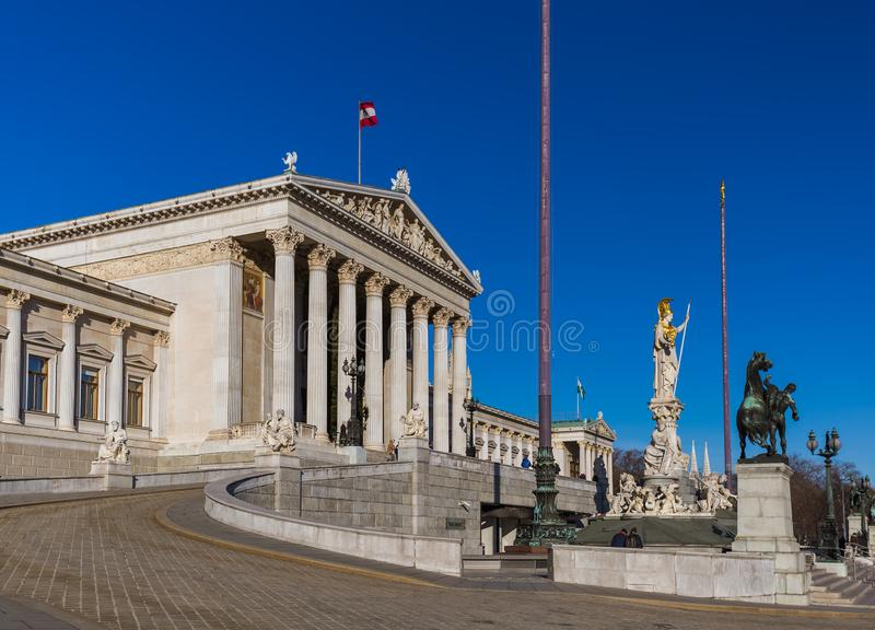 Parliament in Vienna Austria royalty free stock image